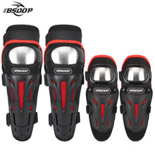 BSDDP Motorcycle Elbows Knee Pads Motocross Protector Riding Protective Gear With Stainless Steel Shell