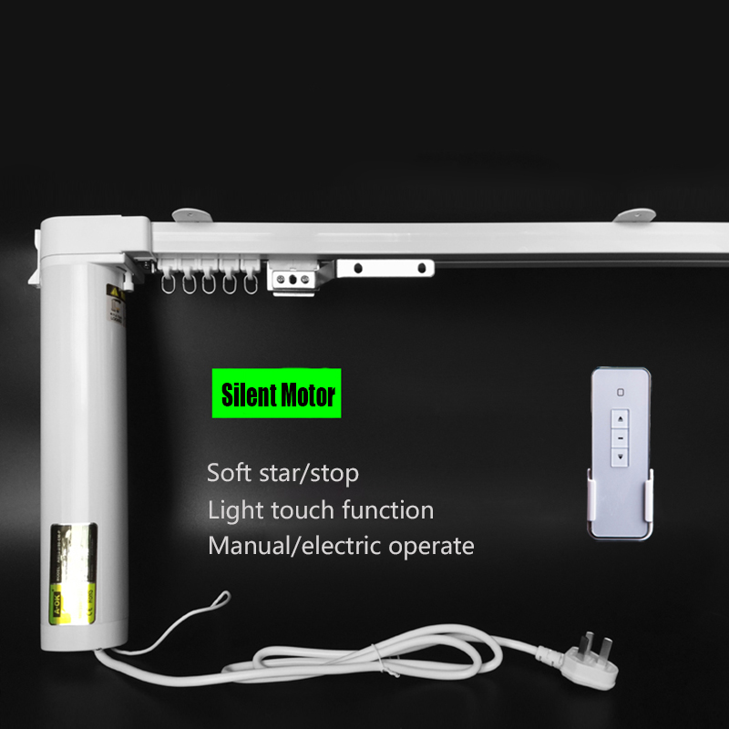 Livraison gratuite stores rideaux électriques silencieux, longueur 5.0 m-7.0 m, 90/135 degrés acceptable, moteur wifi