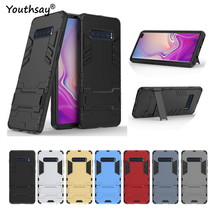 For Samsung Galaxy S10 Plus Case Luxury Robot Hard Back Phone Cover Fundas