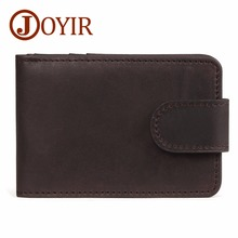 JOYIR Genuine Leather ID/Credit Card Holder Hasp High Quality Men Middle Capacity Credit For Male Man Bag Rfid