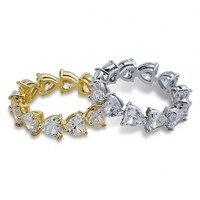 Размер 5 10 винтажные модные ювелирные изделия из стерлингового серебра 925 пробы овальной огранки 5А кубического циркония кольцо для помолвк