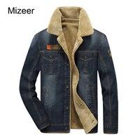 MIZRRE M 4XL Bomber Jacket 2017 New Retro Warm Denim Jackets Mens Coats Winter AFS JEEP