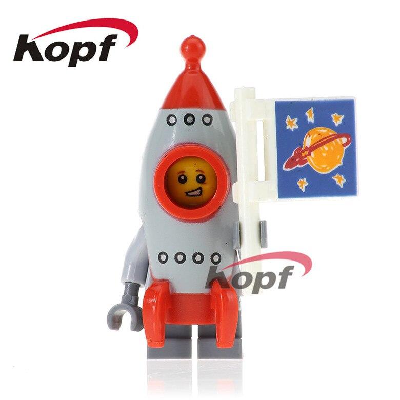 50Pcs PG1027 Super Heroes Inhumans Royal Family Rocket Boy Gingerbread Man Flying Warrior Building Blocks Children Gift Toys