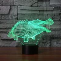 Abstraktion Krokodil Nachtlicht Kreative Produkt Nacht Führte Nachtlicht Kinderzimmer 7 farbe ändern Tisch Lampe