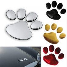Auto styling auto motorcycle decor 3D Poot Footprint PVC auto stickers decal hond beer kat dier foot print sticker(China)
