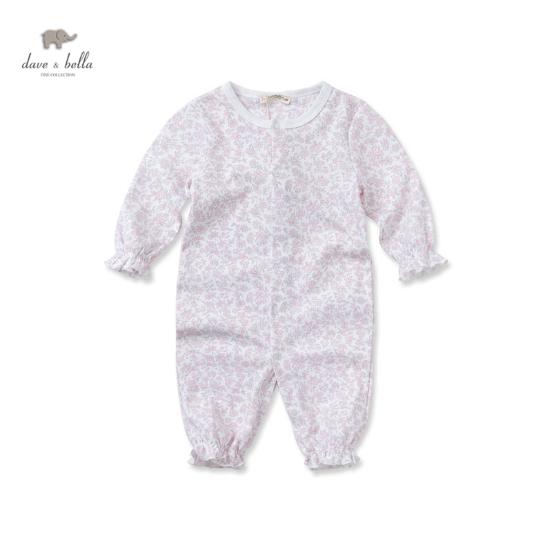 DB2652 dave bella 2015 autumn baby girl romper infant clothes baby one-piece knit baby romper baby coverall babysuits