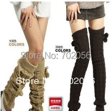 2016 Extra long twist Knitted Leg Warmers Boot Covers about 70cm 24 pairs/lot mixed colors #3428
