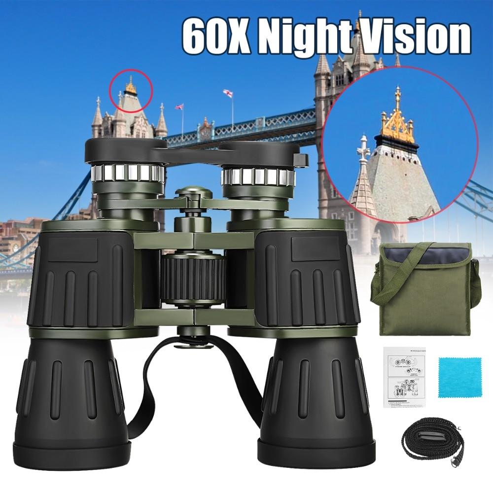 Outdoor wandern 60x50 Nachtsicht Military Armee Zoomable Leistungsstarke Fernglas HD für Jagd Camping ausrüstung überleben kit
