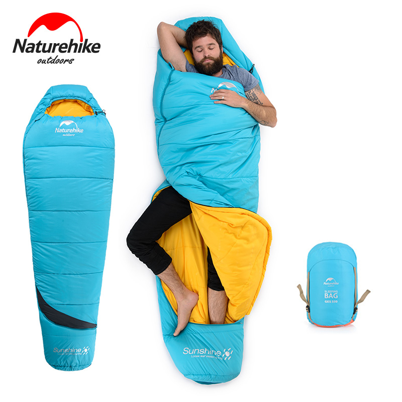 Naturehike Lightweight Single Winter Cotton Compact Camping Sleeping Bag Waterproof Cold Weather Thick Hiking Mummy Sleeping Bag