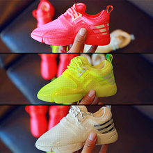 The 2016 summer children s shoes Girls breathable font b running b font shoes hollow out