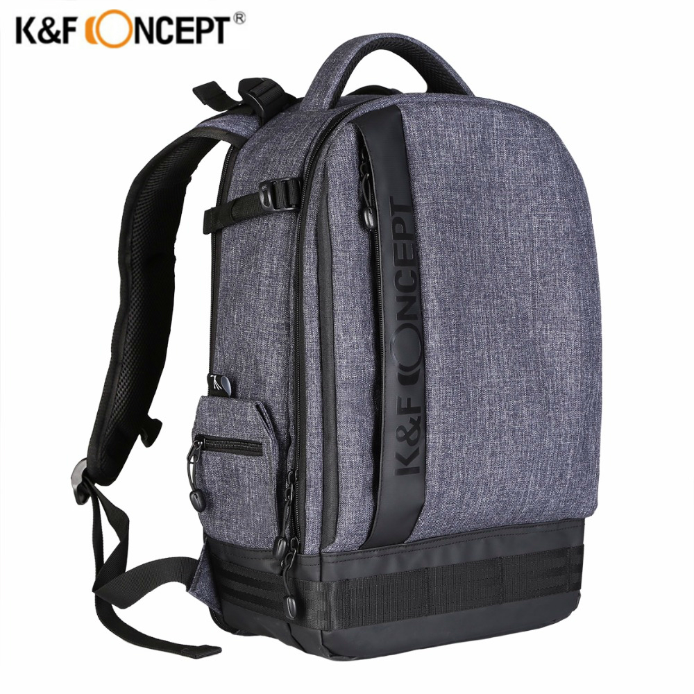 K&F CONCEPT Fashion Multifunctional Bag Waterproof Camera Photo Backpack Big Size Laptop Bags For Canon Nikon Sony Fujifilm SLR 2017 jealiot multifunctional professional camera bag laptop backpack video photo bags waterproof shockproof case for dslr canon
