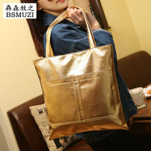 2016 Women Messenger Bags Quilted Handbags Gold Shoulder Bag New 5 Colors Bolsa Feminina Hot Sale Solid Zipper Bag Sacoche Femme