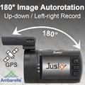 180 Degree Image Autorotation!Jusky Mini 0806 Super 1296P Night Vision Car DVR Ambarella A7 GPS Dash Cam Camera Support 256GB TF