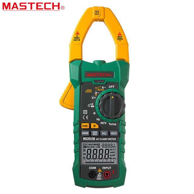 MASTECH MS2015B 1000A AC Clamp Mètres avec La Résistance, La Capacité, Fréquence, Température et NCV Test