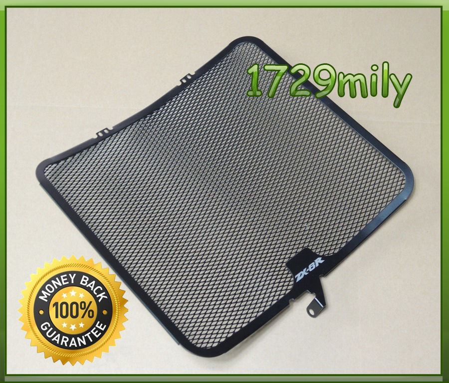 Aluminum Radiator Guard Cover Grille Protector for Kawasaki Ninja ZX-6R 2009 2010 2011 2012 2013 2014 ZX6R FRGKA014 motorcycle radiator grille grill guard cover protector black for kawasaki zx6r 2009 2010 2011 2012 2013 2014 2015