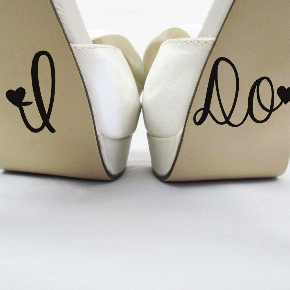 Heart Decoration I DO Wedding Decor Wedding Decal Shoe Cup