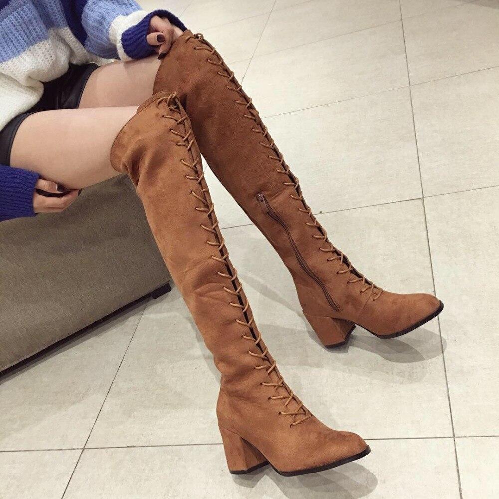 27a34596d7 Compre Inverno Nova Moda Sexy Mulheres Na Altura Do Joelho Botas De ...