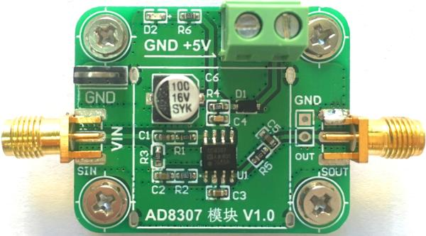 AD8307 Module Logarithmic Detection Low Frequency to 500MHz -75dBm-16dBm Logarithmic Amplifier 0 1 2 4ghz rf power meter frequency range 100 2400 mhz 65 0 dbm 1nw 1w