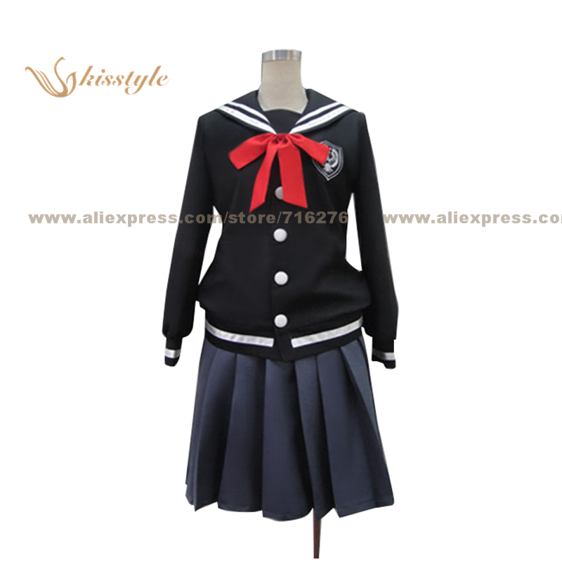 Kisstyle Fashion Hanaoni Asagiri Canna Girl School Uniform COS Clothing font b Cosplay b font Costume