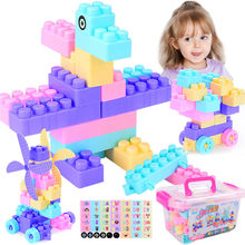100 Piece Big Size DIY Building Blocks Creative Bricks Bulk Model Toy Dinosaurs Figures Toys Children Kids Compatible All Brands(China)