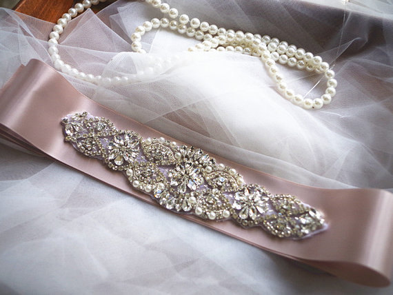 bridal belt applique, bridal sash belt applique, retro style sash - Seni, kerajinan dan menjahit - Foto 3