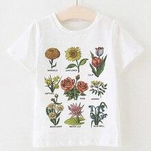 ¡Novedad! camisetas de verano Kawaii para niñas, camisetas a la moda con estampado de letras de Save The Bees de plantas para niños, camisetas casuales Vintage para bebés, camisetas para niños
