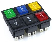 KCD4 Rocker Switch Power Switch ON-OFF-ON 6 Pins With Light 16A 250VAC/ 20A 125VAC 1PCS(China)
