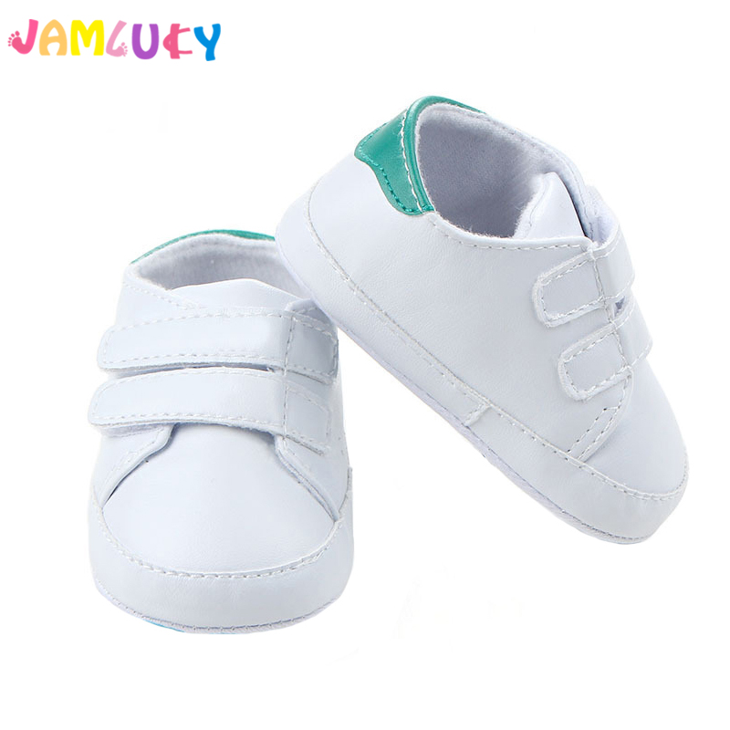 Baby Boy Shoes Sneakers Autumn Solid Unisex Crib Shoes Infant PU Leather Footwear Toddler Moccasins Baby
