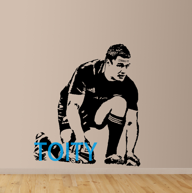 Dan carter wall sticker new zealand former rugby union player vinyl decal sport poster boy room