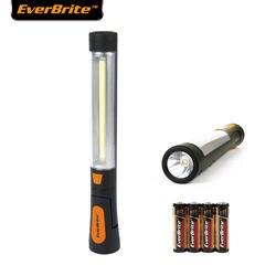 EVERBRITE COB светодиодный свет поворотный Рабочий свет аварийные огни портативный фонарик/рабочий свет 4AAA батареи