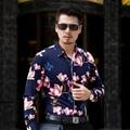CE02-L-6XL 7XL Hombres Camisas de Manga Larga 2016 Hombres Floral Camisas Hombres de la Camisa Hawaiana Camisa de Vestir Camisas Para Hombre