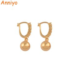 Anniyo Cubic Zirconia Beads Earrings for Women Girls Trendy Jewelry Wedding Party Accessories CZ Ball Earrings #062104(China)