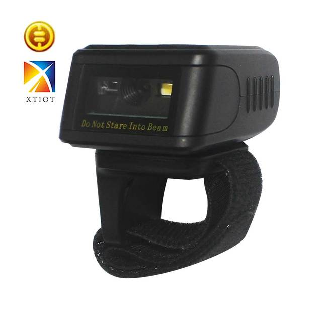 US $108 46 |XTH3003 Scanner Portable Bluetooth Ring 2D Scanner Barcode  Reader For IOS Android Windows PDF417 DM QR Code 2D Wireless Scanner-in