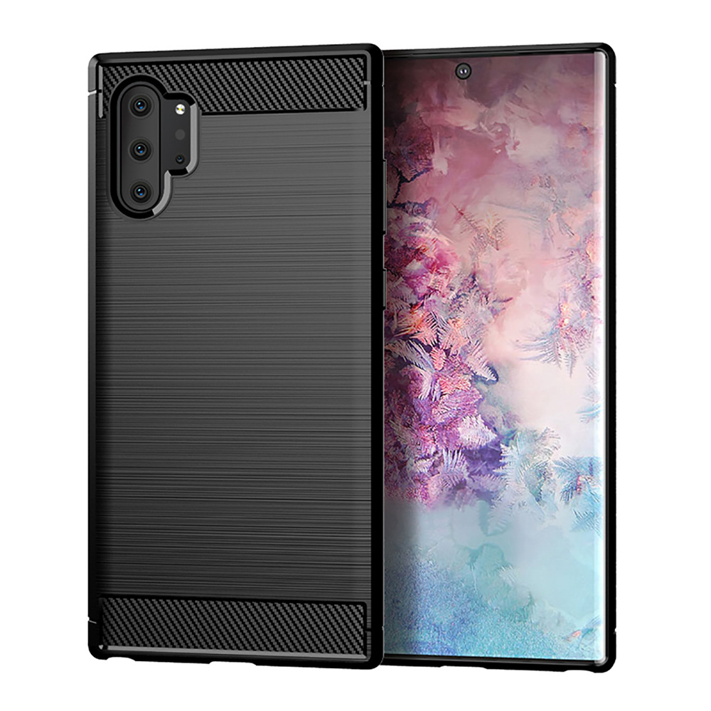 check out 1fba8 ddd59 Brushed Carbon Fiber Soft TPU Case for Samsung Galaxy Note 10 Case Silicone  Slim Soft Cover for Samsung Note 10 Pro Shell Note10