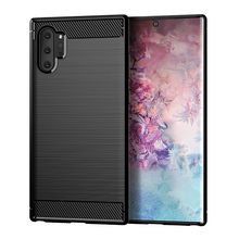 Brushed Carbon Fiber Soft TPU Case for Samsung Galaxy Note 10 Case Silicone Slim Soft Cover for Samsung Note 10 Pro Shell Note10