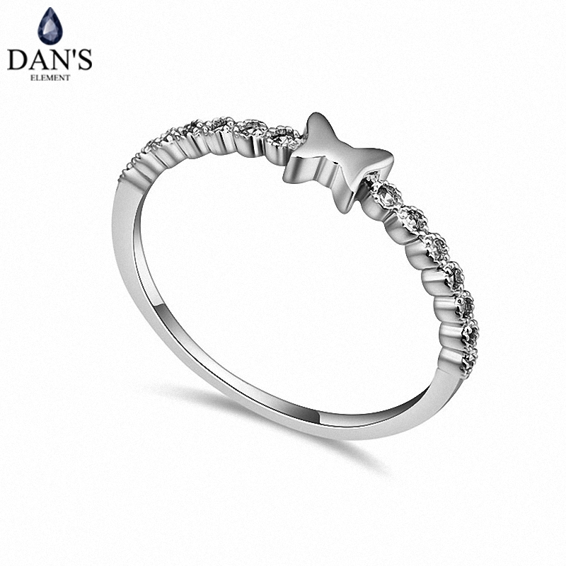 Fashion-Ring Crystals Real-Austrian Women Zirconia Brand for New Butterfly 109048white