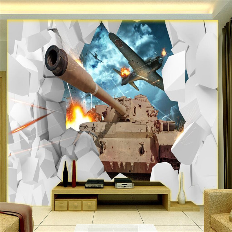 Buy murals wallpaper world of tanks game for 3d room decoration game