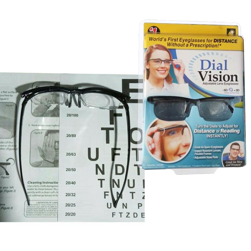 Dial Vision Adjustable Lens Eyeglass For Men Women Gift Magnifying Glass Action Toy Figures Reader Glasses Bottle Toys Hobbies-In Party Favors -4513