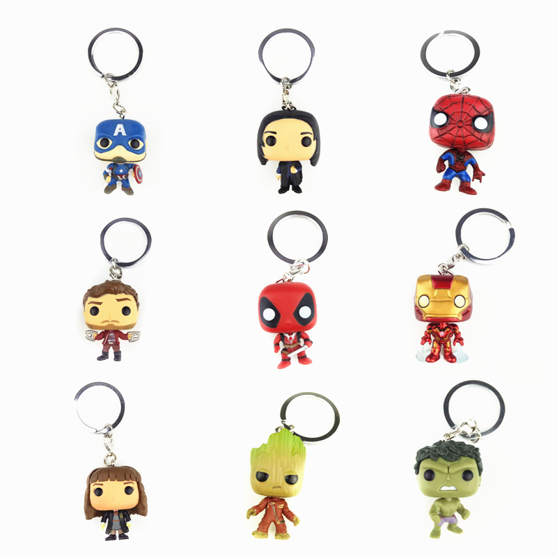 Keychain Avengers Harry Potter Game of Thrones action figure Bobble Head Q Edition new box for