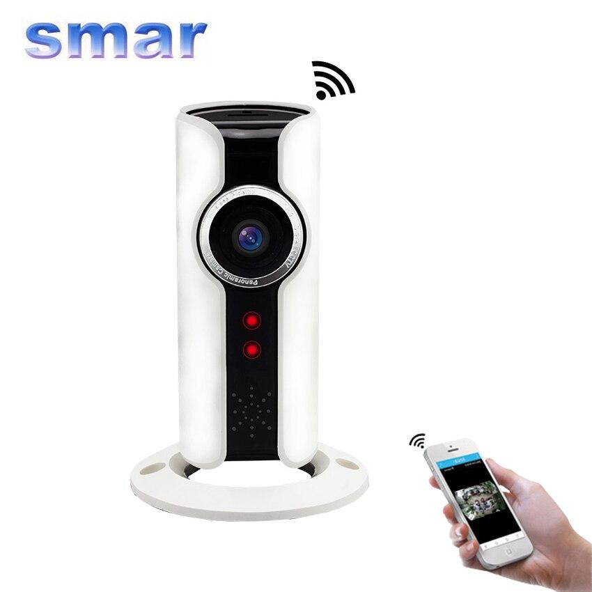 ФОТО Wifi IP Camera 720P HD Mini  Smart P2P Baby Monitor CCTV Security Camera 180 Degree Panoramic Fisheye Lens Two Way Audio