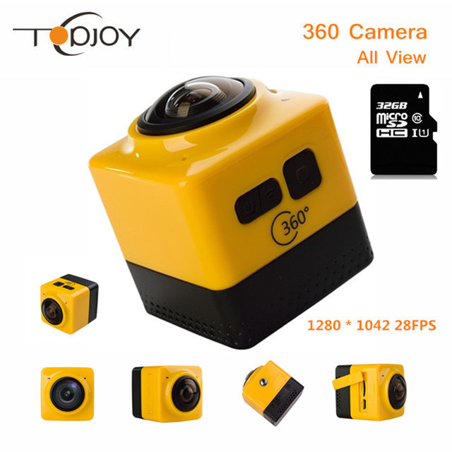 360 Camera Portable 360D Action Camera Wifi 1280*1024 28fps Mini Camcorder Outdoor Sport Wide-Angle Video Camera