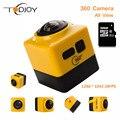 360D 360 Câmera Portátil Câmera de Ação Wi-fi 1280*1024 28fps Mini Camcorder Desporto Ao Ar Livre Câmera de Vídeo Grande-Angular