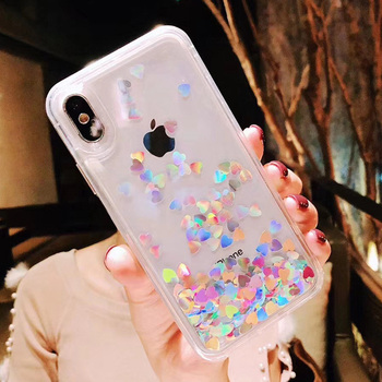 Liquid Glitter iPhone Xs Case