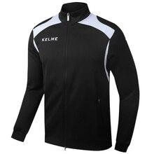 Kelme KMC160001 Men Long Sleeve Stand Collar Leisure Running Sport Training Football Knit Jacket Black