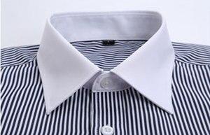 Image 4 - גברים של Slim Fit צרפתית חפתים חולצה ללא ברזל ארוך שרוול כותנה זכר טוקסידו חולצת פורמליות חולצות גברים עם צרפתית חפתים