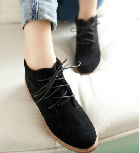 fall winter ladies vintage casual shoes women fashion ankle boots ...