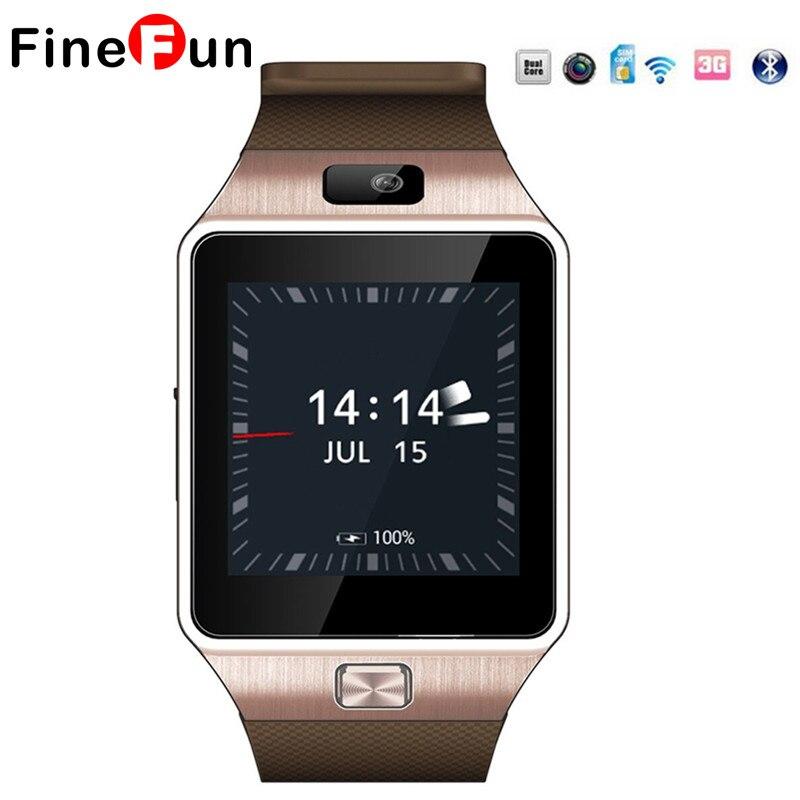 Finefun QW09 Смарт-часы Android 4.4 MTK6572 3 г WI-FI Dual Core 512 МБ Оперативная память 4 ГБ Встроенная память Bluetooth SmartWatch Для IOS Android PK DZ09