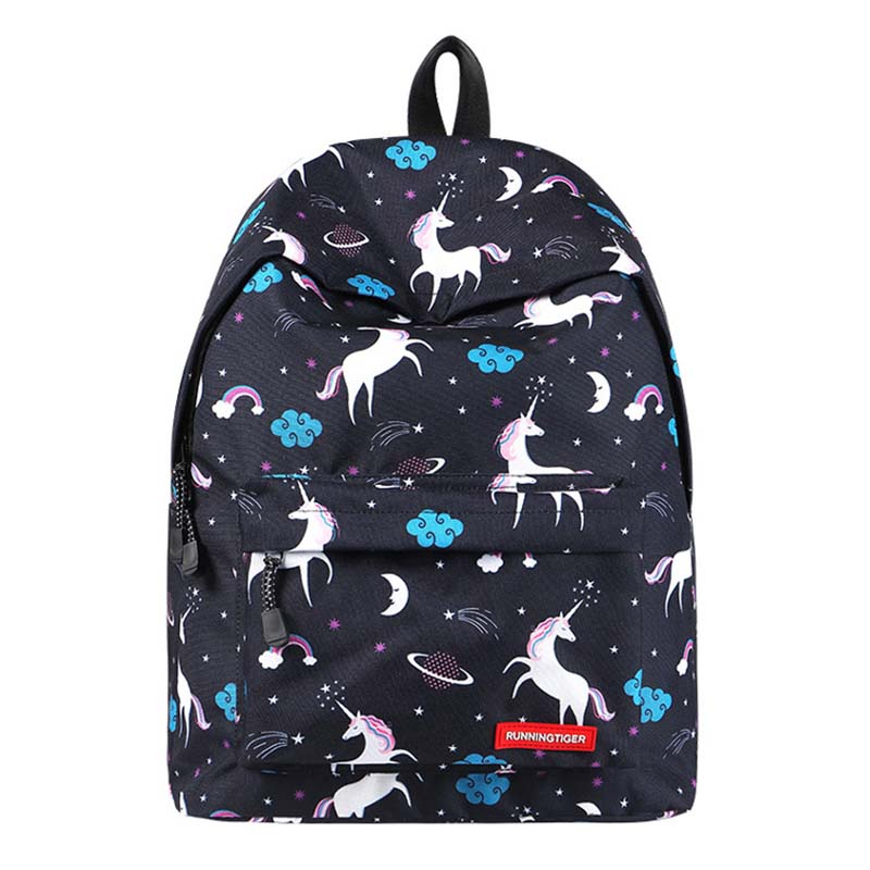 Ou Mo brand Flamingo Print Mini Bag Women Bag man laptop anti theft backpack feminina backpack middle School student Schoolbag in Backpacks from Luggage Bags