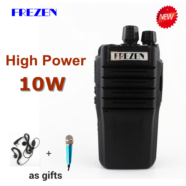 10W Walkie Talkie F-988 Waterproof UHF 400-470MHz 16CH Handheld Two Way Radio Anti-noise Big Speaker 3800mah Transceiver