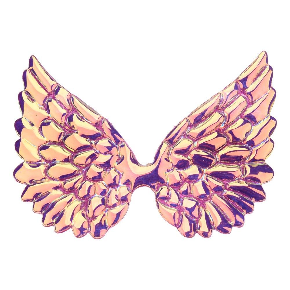 20 шт 3,3 дюймов большой блеск Крылья Бутик аксессуаров для волос цветок аксессуары без заколки для волос повязка на голову - Цвет: Purple